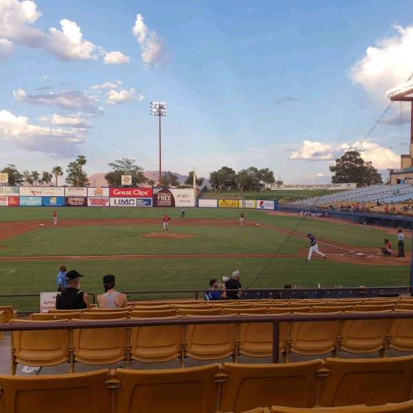 Cashman Field, section: 8, row: L