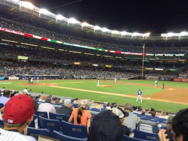 Yankee stadium, section: 115, row: 16, seat: 1