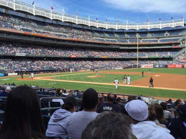 Yankee Stadium, section: 114A, row: 18, seat: 11