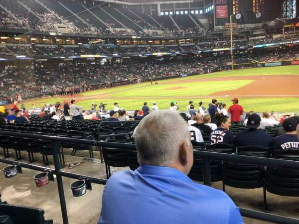 Chase Field, section: 115, row: 22, seat: 7