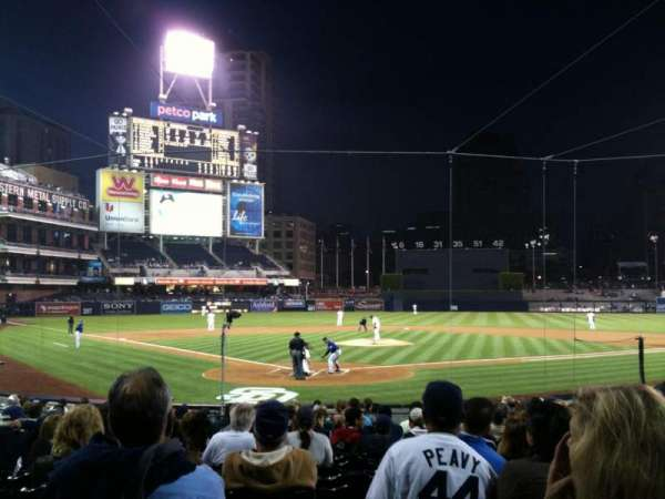 Petco Park, section: 101, row: 20, seat: 13