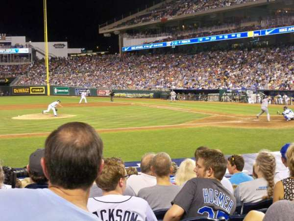 Kauffman Stadium, section: 121, row: J, seat: 3