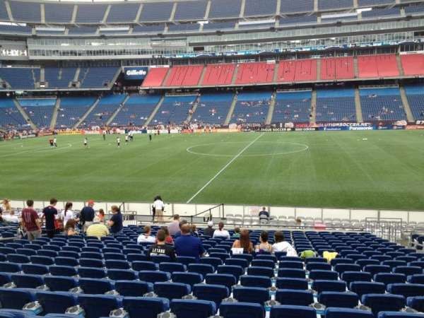 Gillette Stadium, section: 131, row: 20, seat: 7