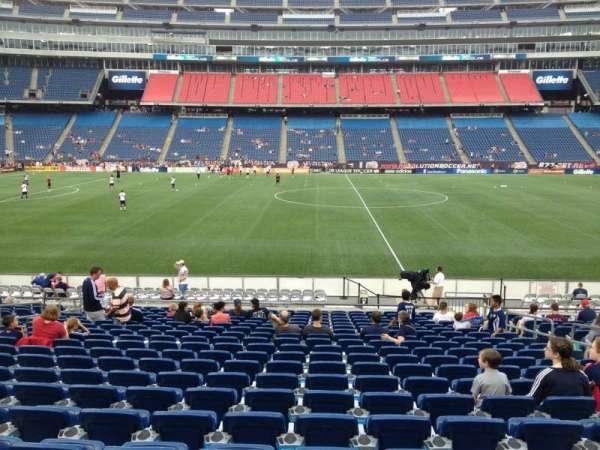 Gillette Stadium, section: 132, row: 20, seat: 8