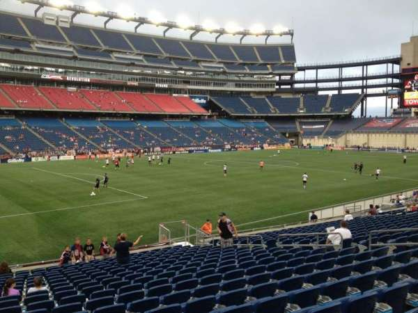 Gillette Stadium, section: 136, row: 20, seat: 15
