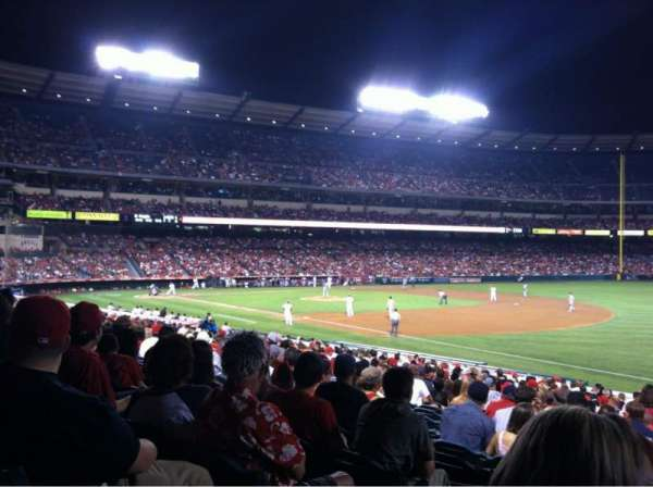 Angel Stadium, section: F129, row: Z, seat: 2