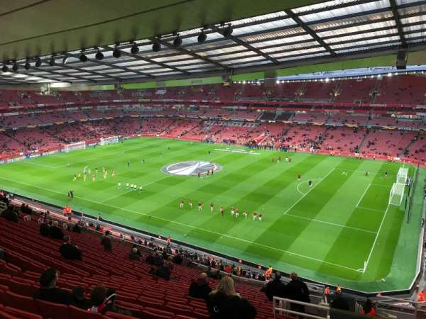 Emirates Stadium, section: 109, row: 20, seat: 509