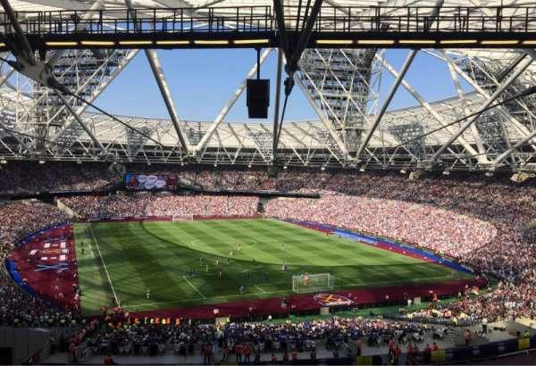 London Stadium, section: 219, row: 61, seat: 96