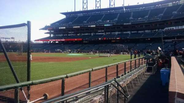 AT&T Park, section: 127, row: 1, seat: 1