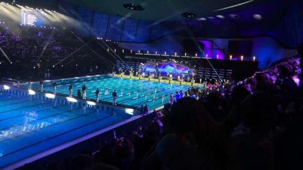 London Aquatics Centre, section: F, row: 8, seat: 163