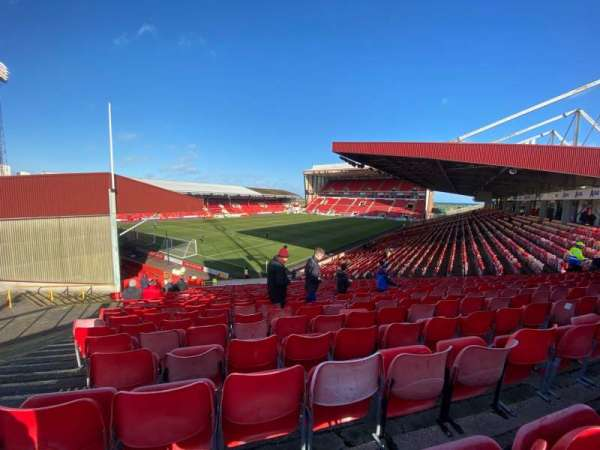 Pittodrie Stadium, section: Y, row: MM, seat: 291
