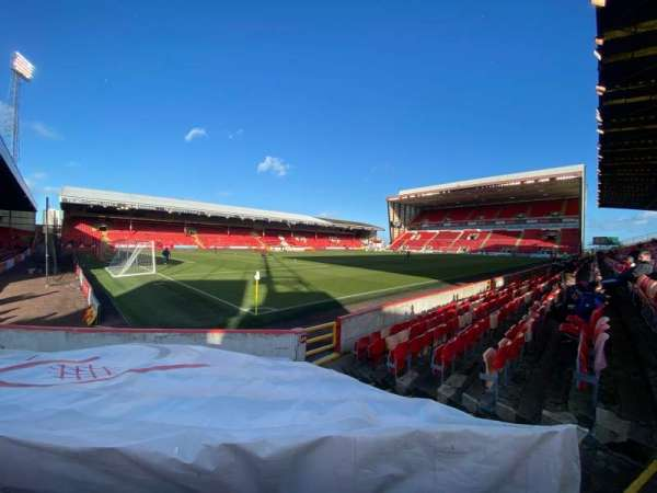 Pittodrie Stadium, section: Y, row: H, seat: 278