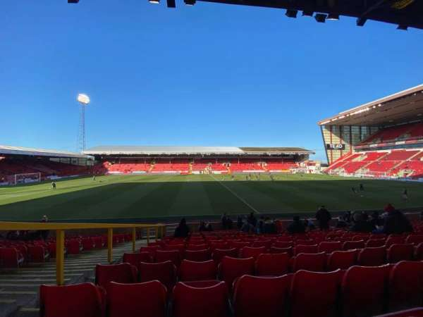 Pittodrie Stadium, section: T, row: T, seat: 149