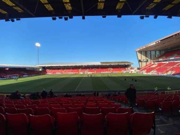 Pittodrie Stadium, section: T, row: X, seat: 124