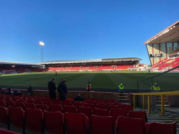Pittodrie Stadium, section: S, row: K, seat: 94