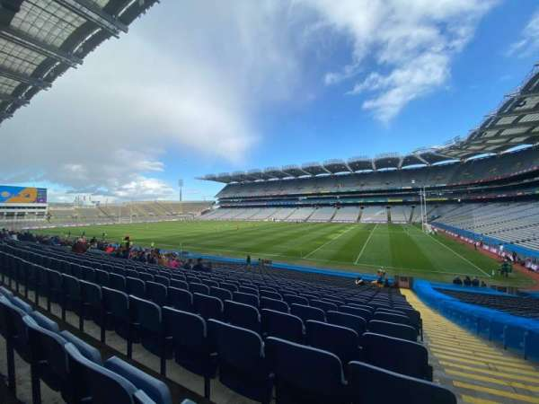 Croke Park, section: 327, row: GG, seat: 15