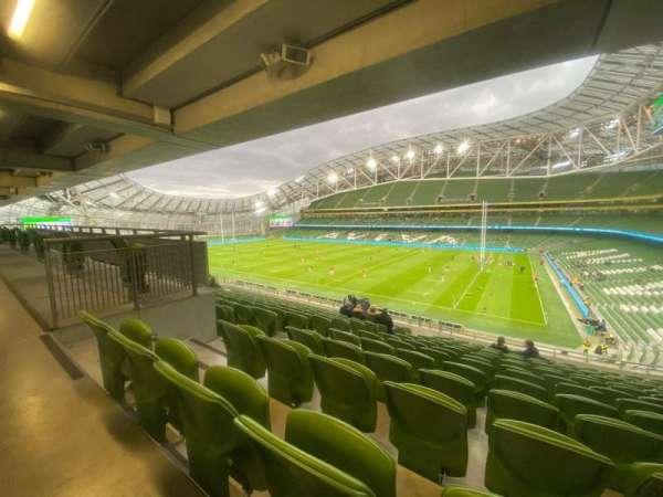 Aviva Stadium, section: 323, row: P, seat: 10