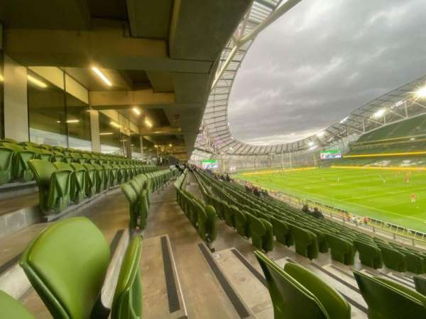 Aviva Stadium, section: 322, row: L, seat: 12