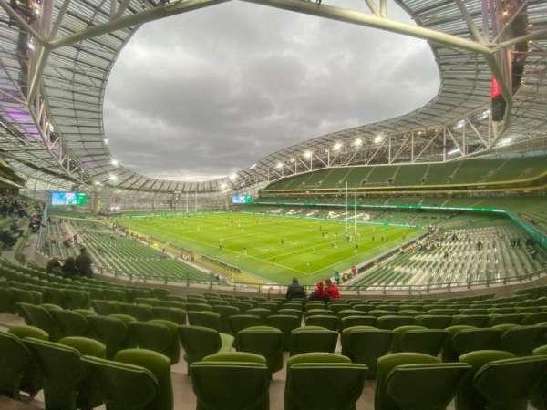 Aviva Stadium, section: 321, row: J, seat: 8