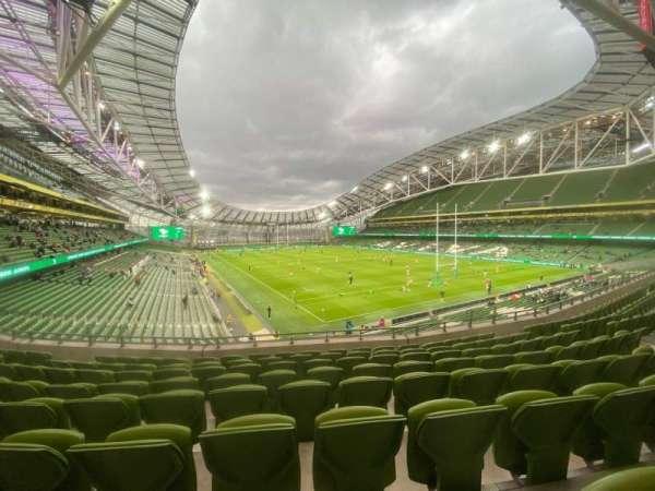 Aviva Stadium, section: 320, row: H, seat: 4