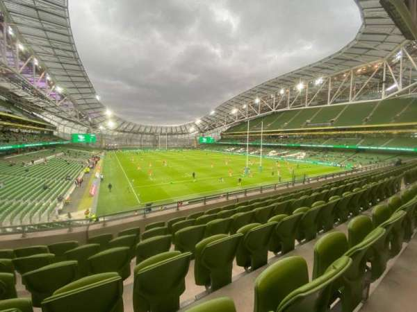 Aviva Stadium, section: 319, row: F, seat: 8