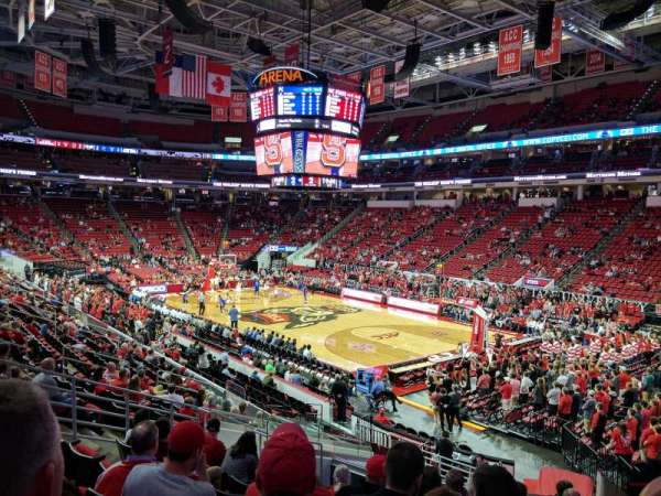 PNC Arena, section: 115, row: W, seat: 4