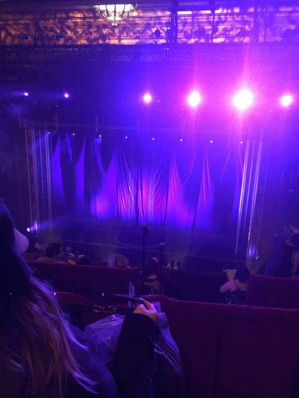 Brooks Atkinson Theatre, section: Front Mezzanine C, row: J, seat: 107