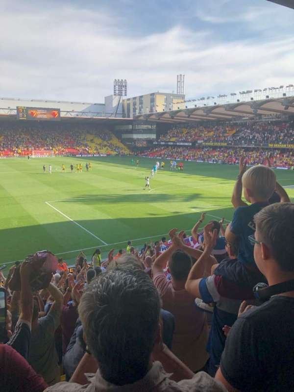 Vicarage Road, section: VH1, row: G, seat: 31