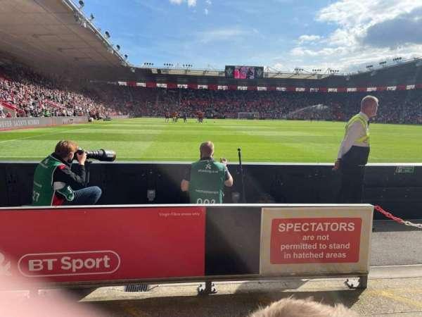 St Mary's Stadium, section: 45, row: C, seat: 1168
