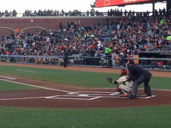 AT&T Park, section: PFC 121, row: B, seat: 15and16