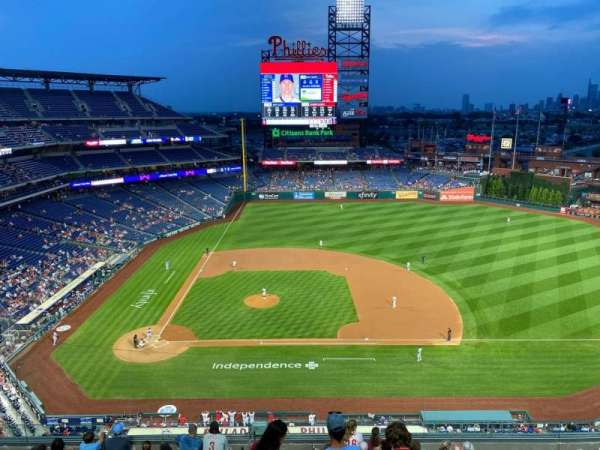 Citizens Bank Park, section: 415, row: 1, seat: 24