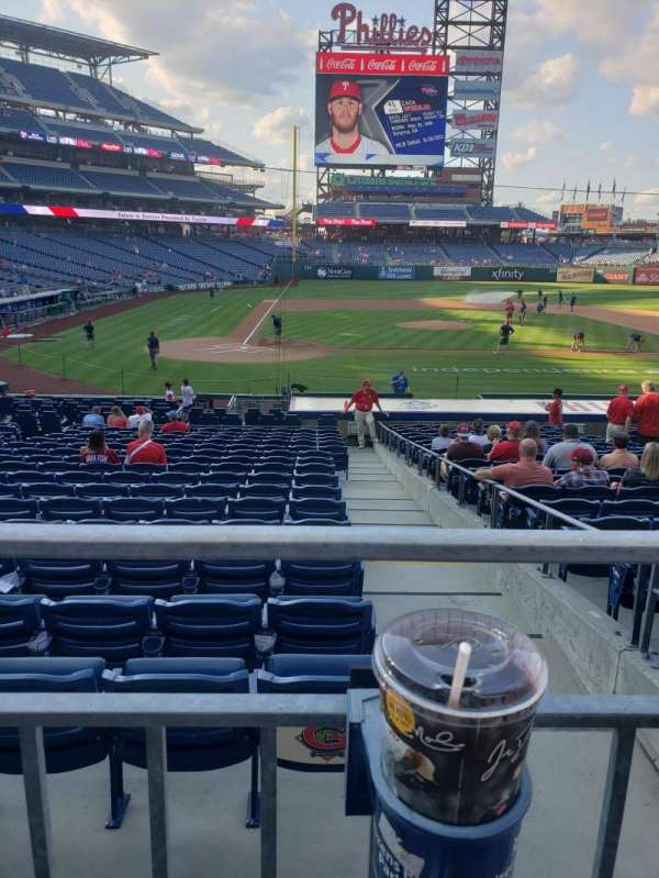 Citizens Bank Park, section: 119, row: 21, seat: 4