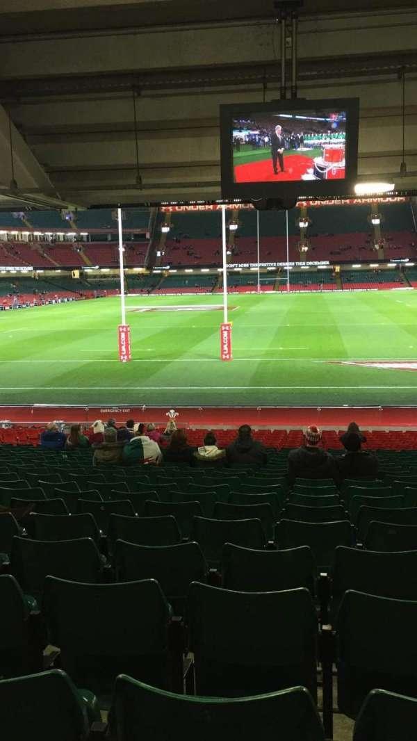 Principality Stadium, section: L19, row: 27, seat: 10