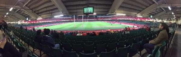 Principality Stadium, section: L19, row: 27, seat: 11