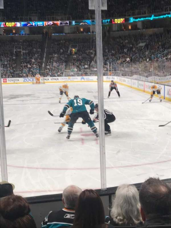 SAP Center, section: 121, row: 5, seat: 4