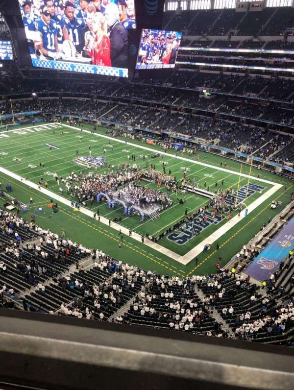 AT&T stadium , section: 405, row: 1, seat: 7