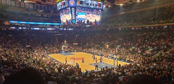 Madison Square Garden, section: 110, row: 18, seat: 19