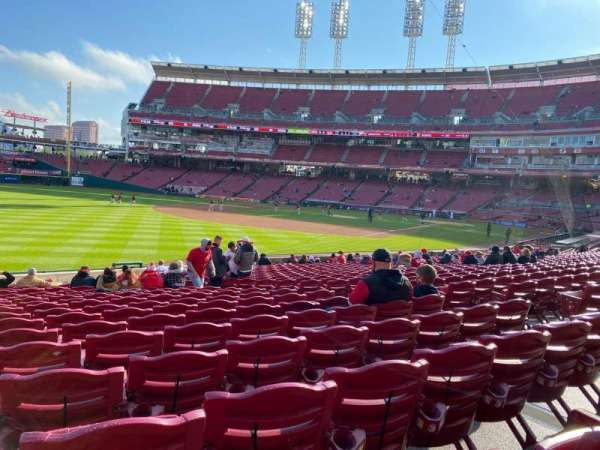 Great American Ball Park, section: 110, row: X, seat: 8,9