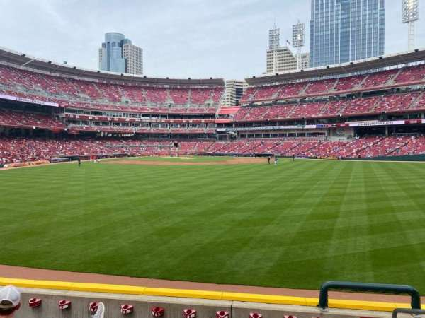 Great American Ball Park, section: 144, row: F, seat: 1,2