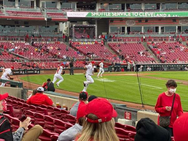Great American Ball Park, section: 134, row: G, seat: 14