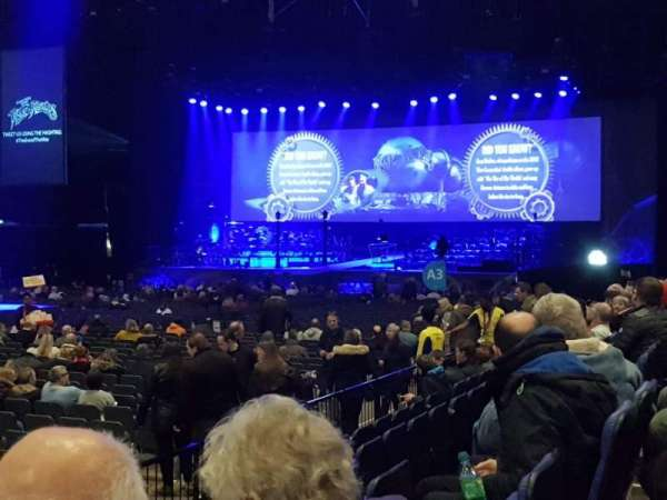 The O2 Arena, section: 110, row: E, seat: 312