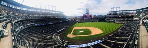 Coors Field, section: L325, row: 1, seat: 14