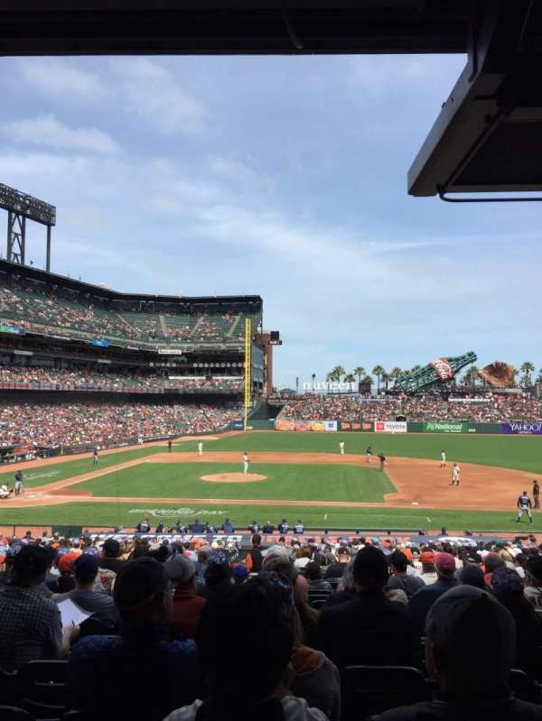 Oracle park, section: 108, row: 33, seat: 11