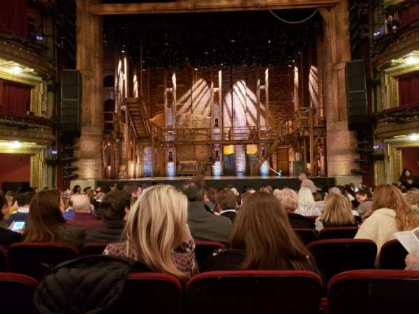 CIBC Theatre, section: Orchestra Center, row: R, seat: 108-9