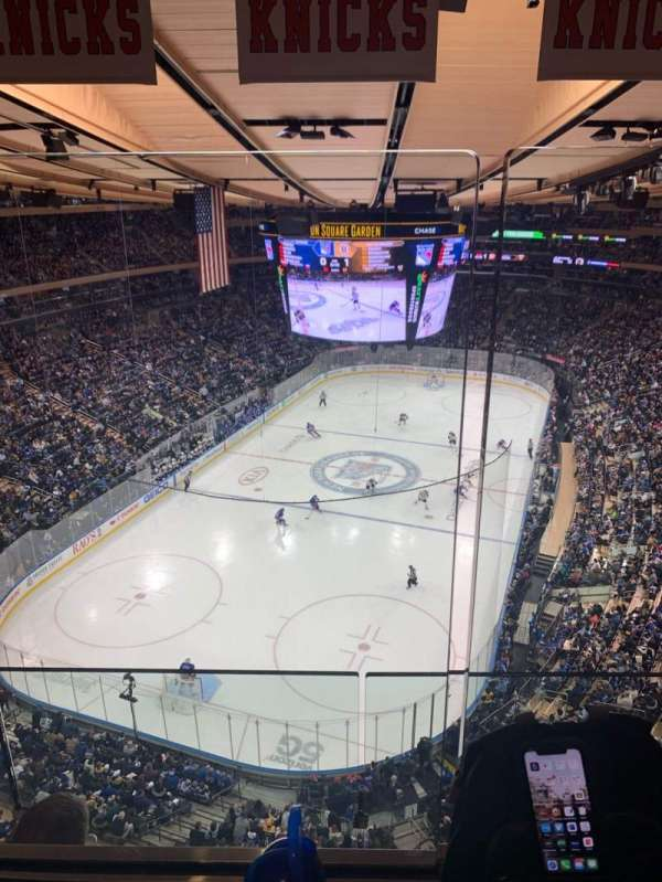 Madison Square Garden, section: 321, row: 2WC, seat: 4