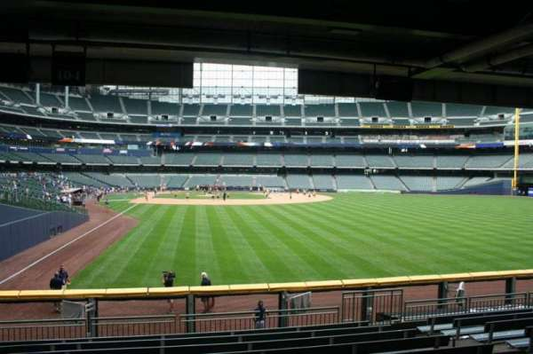 Miller Park, section: 104, row: 11, seat: Bench seat