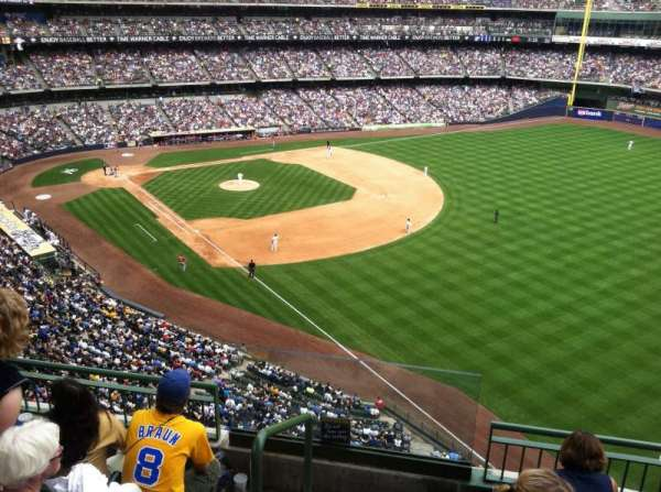 Miller Park, section: 406, row: 3, seat: 20