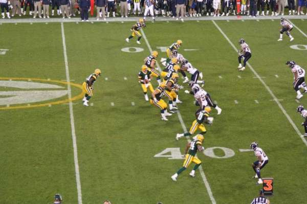 Lambeau Field, section: 120, row: 48, seat: 20