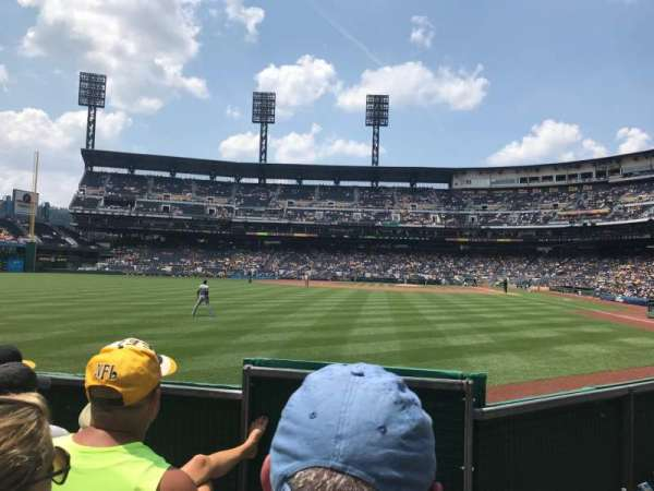PNC Park, section: 135, row: D, seat: 1
