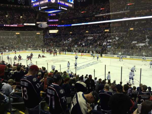 Nationwide Arena, section: 112, row: Q, seat: 14